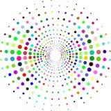 Cercle avec des points pour le projet de conception Illustration tramée de vecteur d'effet Points colorés sur le fond blanc Fond  Photographie stock