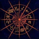 Cercle avec des signes de zodia Photos stock