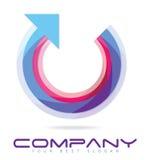Cercle avec le logo de tête de flèche Image libre de droits
