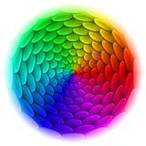 Cercle avec le modèle de tuile de toit dans le spectre. Photo stock