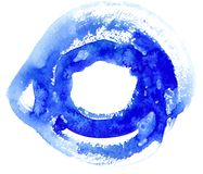 Cercle bleu photos stock