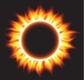 Cercle brûlant abstrait du feu Photo libre de droits