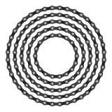 Cercle à chaînes de vélo Photographie stock libre de droits