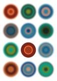 Cercle clair parmi des cercles Images libres de droits