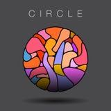 Cercle coloré avec le verre souillé Photos libres de droits