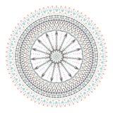 Cercle coloré de hippie à la mode, symbole philosophique lumineux, éléments circulaires qui sont des religieux, Images libres de droits
