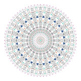Cercle coloré de hippie à la mode, symbole philosophique lumineux, éléments circulaires qui sont des religieux, Image stock