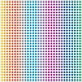 Cercle coloré Dots Pattern Background d'arc-en-ciel abstrait illustration de vecteur