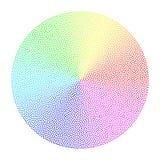 Cercle conique pointillé coloré de gradient Image stock