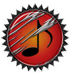 Cercle créateur 1 de musique illustration stock