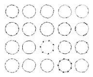 Cercle créatif tiré par la main pour le logo, label, stigmatisant illustration libre de droits