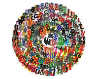 Cercle d'ABC de journal Photographie stock libre de droits