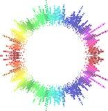 Cercle d'arc-en-ciel de mosaïque Images libres de droits