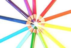Cercle d'arc-en-ciel de pancil de couleur Photographie stock libre de droits