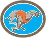Cercle d'emballage de chien de lévrier rétro Image libre de droits