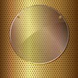 Cercle d'or et en verre Images stock