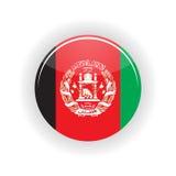 Cercle d'icône de l'Afghanistan Photo stock
