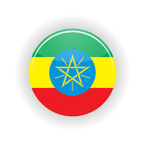 Cercle d'icône de l'Ethiopie Images stock