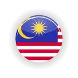 Cercle d'icône de la Malaisie Image libre de droits