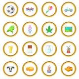 Cercle d'icônes de voyage de Netherland Image libre de droits