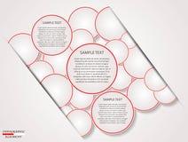 Cercle d'Infographics Image libre de droits