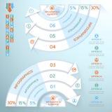 Cercle d'Infographics d'affaires avec des flèches pour des présentations d'affaires, web design Photos libres de droits