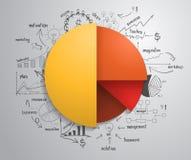 Cercle d'Infographics d'affaires de vecteur avec dessiner c illustration libre de droits
