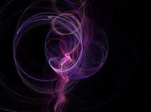 Cercle d'infographie Fumée de musique d'art de Digital Fond coloré abstrait graphique de fractale photographie stock libre de droits