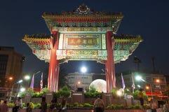 Cercle d'Odean dans la célébration chinoise d'an neuf Photographie stock