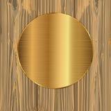 Cercle d'or sur planches Photo libre de droits