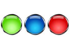 Cercle de bouton Photos stock