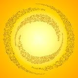 Cercle de bulles Images libres de droits