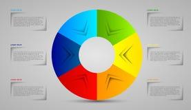 Cercle de calibre d'Infographic Images libres de droits