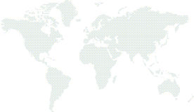 Cercle de carte du monde Images libres de droits