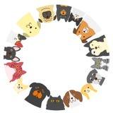 Cercle de chiens et de chats Photos stock
