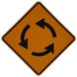 Cercle de circulation en avant Photographie stock