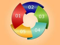 Cercle de conception d'Infographic Images stock