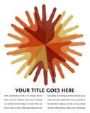 Cercle de conception superposante de mains. Photographie stock libre de droits