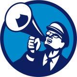 Cercle de cri de mégaphone de ballot rétro illustration de vecteur