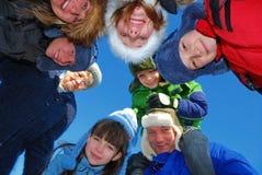 Cercle de famille heureux Photographie stock libre de droits
