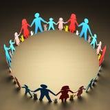 Cercle de familles Photos libres de droits
