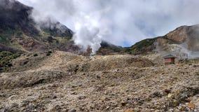 Cercle de feu volcanique de Papandayan Indonésie de montagne photographie stock