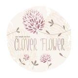 Cercle de fleur de trèfle Image libre de droits