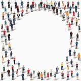 Cercle de forme de personnes de groupe Images stock