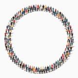 Cercle de forme de personnes de groupe Photos libres de droits