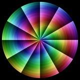 Cercle de gradient de couleur de spirale de spectre d'arc-en-ciel Image libre de droits