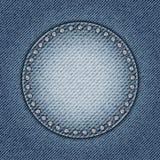 Cercle de jeans avec des paillettes Image stock