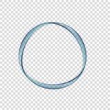 Cercle de l'eau sur un fond transparent Images libres de droits