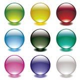 Cercle de lueur de bulle illustration stock