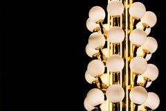 Cercle de luxe d'ampoule de courrier de lampe Photographie stock libre de droits